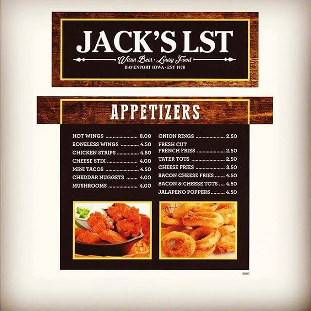 New appetizers menu